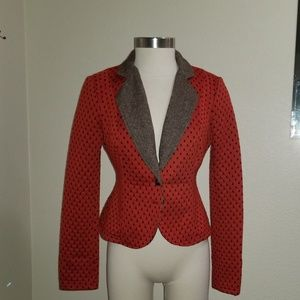 Free People Jackets & Coats - Free people warm cotton jacket tweed and red